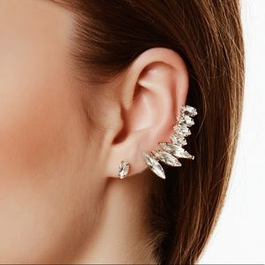 Crystal Climber | Cuff and Stud Earrings